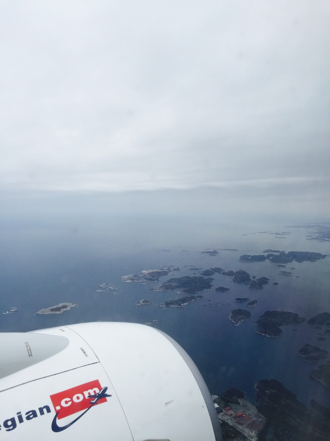 Flying into Bergen