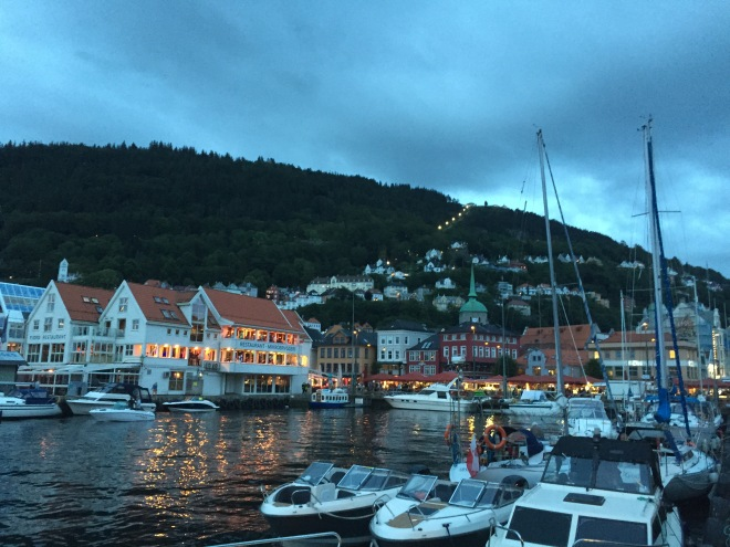 Beautiful Bergen at night